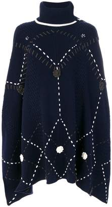 Michel Klein knit large stitch poncho