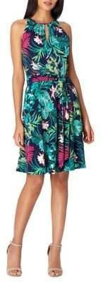 Tahari Arthur S. Levine Tropical Print Shift Dress