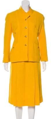 Chanel Tweed Skirt Suit Yellow Tweed Skirt Suit