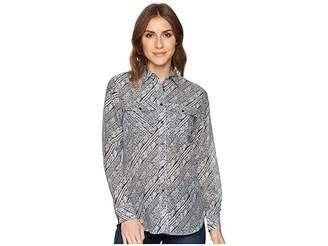 Lauren Ralph Lauren Silk Cotton Voile Long Sleeve Shirt