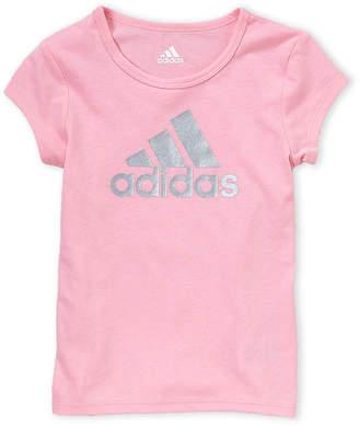 adidas Girls 4-6x) Light Pink Logo Tee
