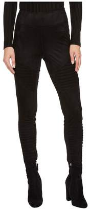 BB Dakota Madelyn Faux Suede Moto Leggings Women's Casual Pants