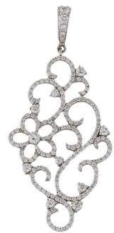 Penny Preville 18K Diamond Floral Scroll Pendant