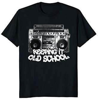 Keeping It Old School - Old School Boombox 80s T-Shirt