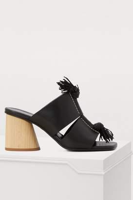 Proenza Schouler Wooden-heeled mules