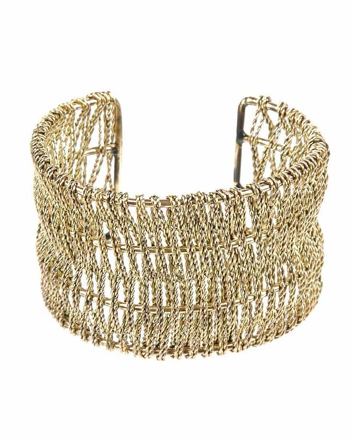 Interwoven Wire Cuff