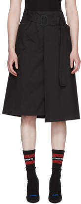 Vetements Black Trench Wrap Skirt