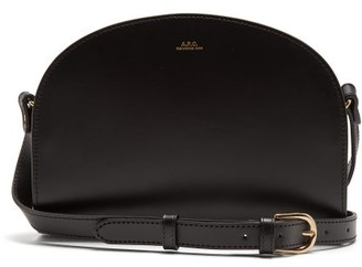 A.P.C. Half Moon Leather Cross Body Bag - Womens - Black