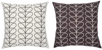 Orla Kiely Tiny Liner Stem Reversible Cushion Slate Blue