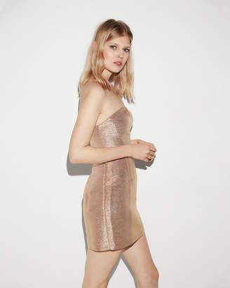 Express Metallic Strapless Sheath Dress