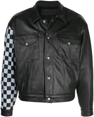Enfants Riches Deprimes check sleeve jacket