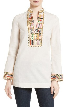 Women's Tory Burch Embellished Tunic $450 thestylecure.com