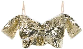 Simone Rocha sequinned bustier top