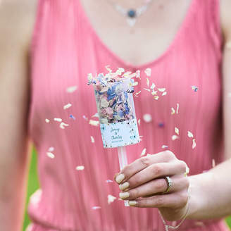Shropshire Petals Butterflies Personalised Wedding Confetti Pops