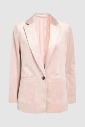 Next Womens Velvet Blazer Pink 6R