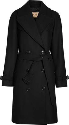 Burberry Herringbone Wool Cashmere Blend Trench Coat