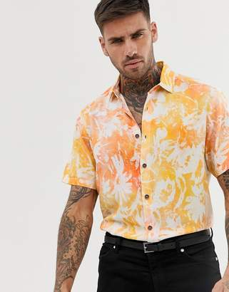 Asos Design DESIGN regular fit shirt in floral print