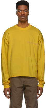 Nasaseasons SSENSE Exclusive Yellow No Pictures Long Sleeve T-Shirt