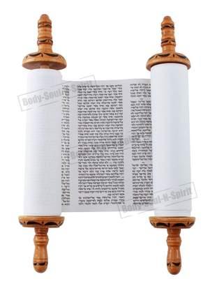 "Body-Soul-n-Spirit Torah Judaica 8"" mini Jewish SEFER TORAH Scroll Book Israel Holy Hebrew Bible Humash"