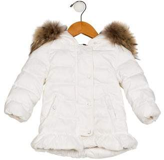 Moncler Girls' Hooded Puffer Coat