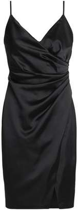Bailey 44 Wrap-Effect Satin Mini Dress