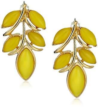Ben-Amun Jewelry Garden Escape Leaf Drop Earrings
