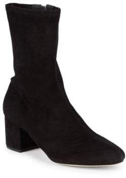 Schutz Stretch Block Heel Ankle Boots