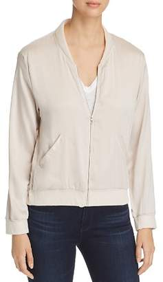 Majestic Filatures Silk & Linen Bomber Jacket