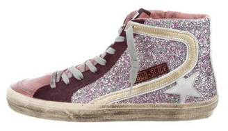 Golden Goose Slide Archive Glitter Sneakers