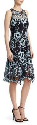 Nanette Lepore Rose Island Lace Knee-Length Dress