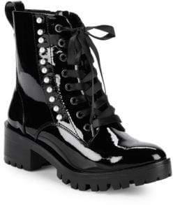 Preston Pearl Embellished Combat Boots