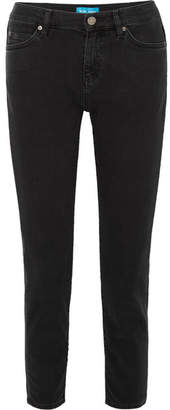 MiH Jeans Tomboy Cropped Slim Boyfriend Jeans - Charcoal