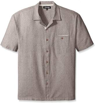 Stacy Adams Men's Big-Tall Melange Linen Blend Short Sleeve Shirt