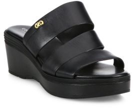 Cole Haan Allesa Grand Leather Wedge Slides $150 thestylecure.com