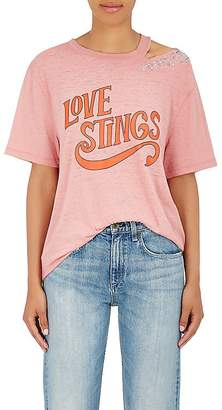"Opening Ceremony Women's ""Love Stings"" Embellished Cotton-Blend T-Shirt"