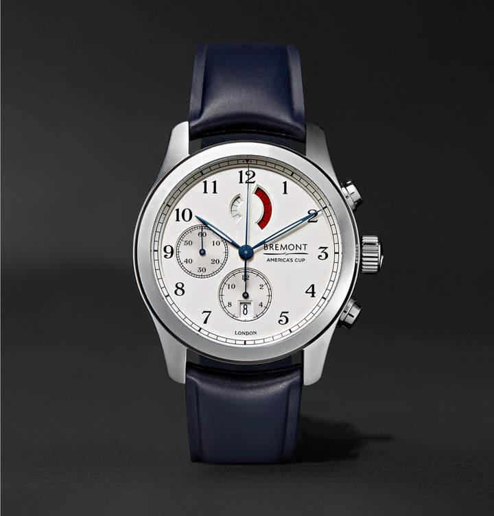 Bremont America's Cup Regatta Stainless Steel and Rubber Chronograph Watch