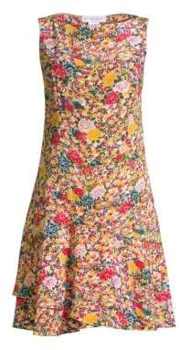 Etro Micro Floral Fit-&-Flare Dress