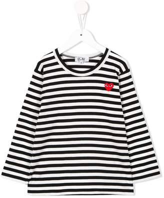 Comme des Garcons Kids striped longsleeved T-shirt
