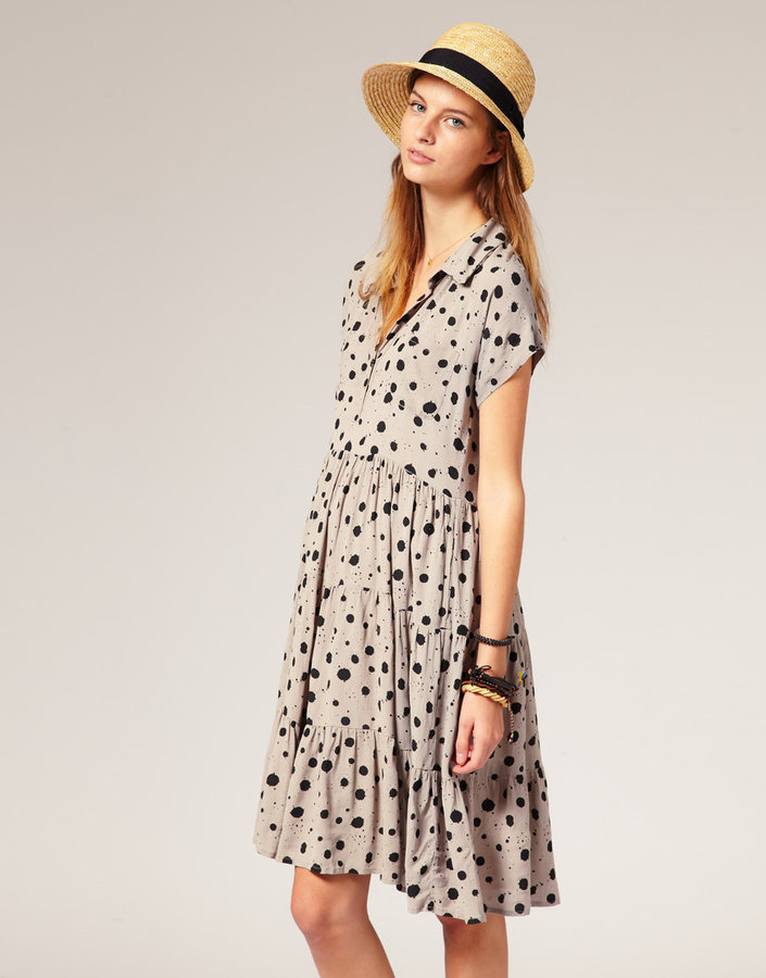 Ganni Smock Shirt Dress