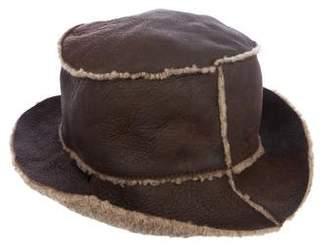 Miu Miu Leather Bucket Hat