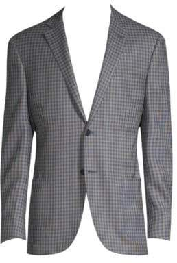 Corneliani Checked Wool Jacket