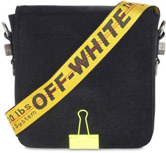 Off-White Off White Logo Strap Cotton Denim Bag