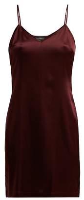 La Perla Silk Blend Satin Slip Dress - Womens - Burgundy