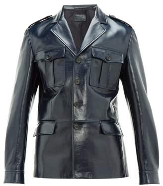 e49f5291 Mens Patch Pocket Leather Jacket - ShopStyle