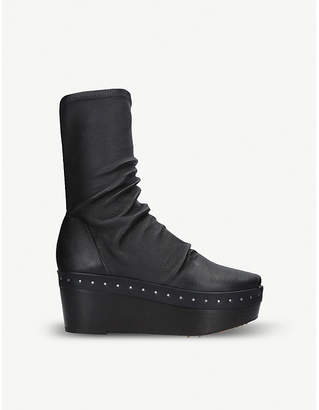 Rick Owens Sabot leather platform boots