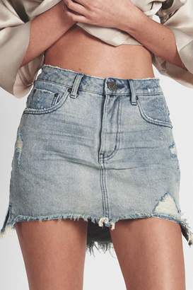 One Teaspoon Blue-Storm Denim Skirt