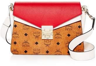 7dda9e06b7d6a4 MCM Mazzanin Visetos Color-Block Leather Shoulder Bag