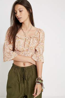 Urban Outfitters Erin Floral Blouse