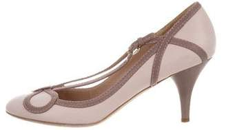 Nina Ricci Leather Round-Toe Pumps