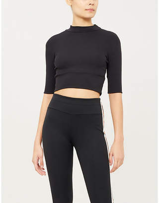 Vaara Dion ribbed stretch-knit sports crop top